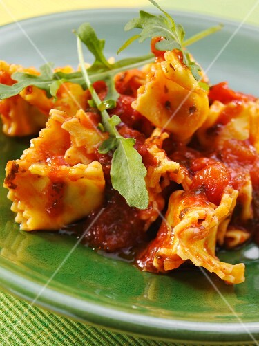 Fagottini with tomato sauce