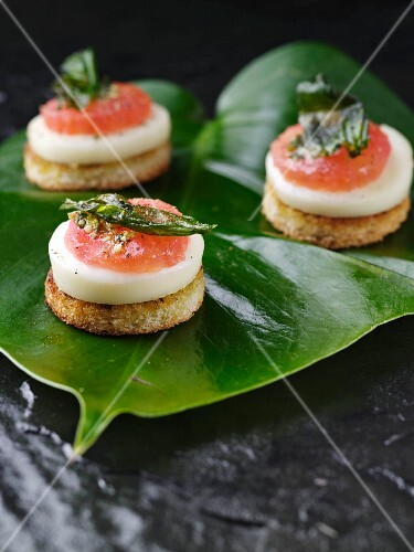Smaked salmon canapes styish catering