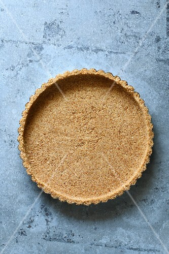 Pie crust made with graham cracker crumbs
