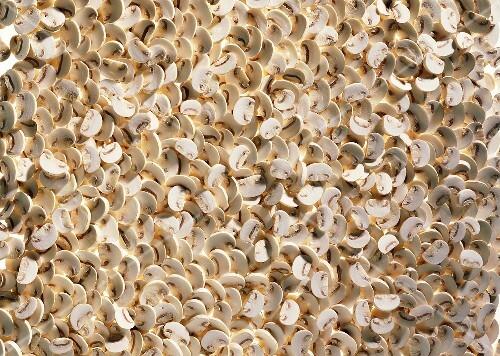 viele champignons in scheiben ausschnitt bild kaufen 125810 stockfood. Black Bedroom Furniture Sets. Home Design Ideas