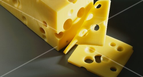 Block of swiss cheese