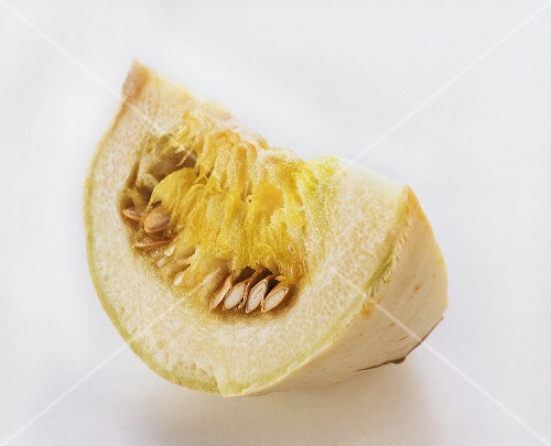 Segment of squash (spaghetti squash) on white background (2)