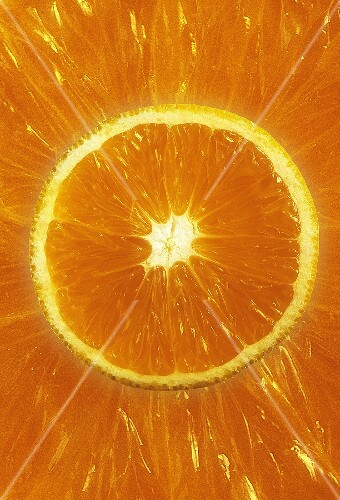 Orange Cross Section Close Up