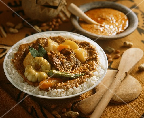Maffe: mutton with vegetables in peanut sauce (Senegal)