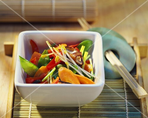 Wok-cooked Asian vegetables