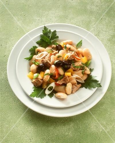 fagioli e tonno weisse bohnen thunfisch salat italien bild kaufen 191388 stockfood. Black Bedroom Furniture Sets. Home Design Ideas