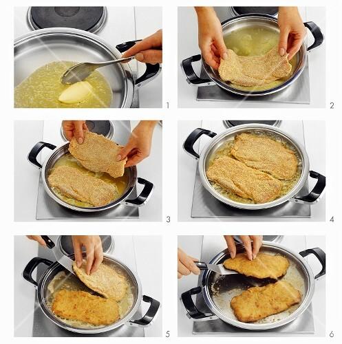 how to cook breaded veal schnitzel
