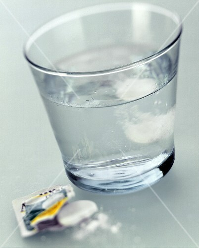 Glass of Water; Aspirin