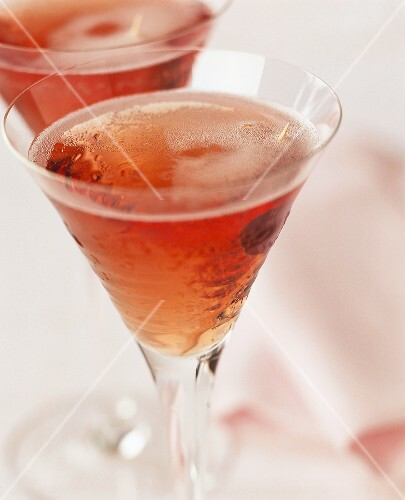Kir Royal in two glasses