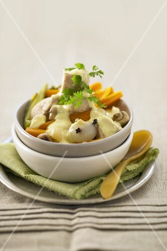 Blanquette de veau (Veal stew with white sauce, France)