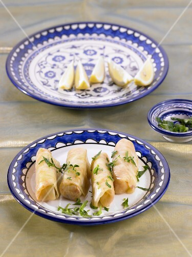 White cabbage leaves filled with lamb (North Africa)