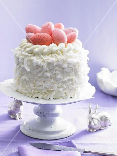 kokos buttercreme torte zu ostern bild kaufen 269932. Black Bedroom Furniture Sets. Home Design Ideas