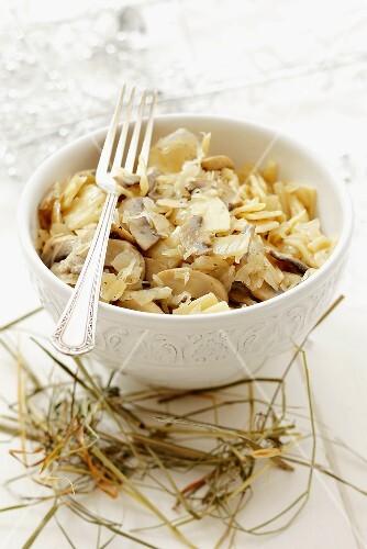 lazanki nudeln mit sauerkraut und champignons polen zu weihnachten bild kaufen 282866. Black Bedroom Furniture Sets. Home Design Ideas
