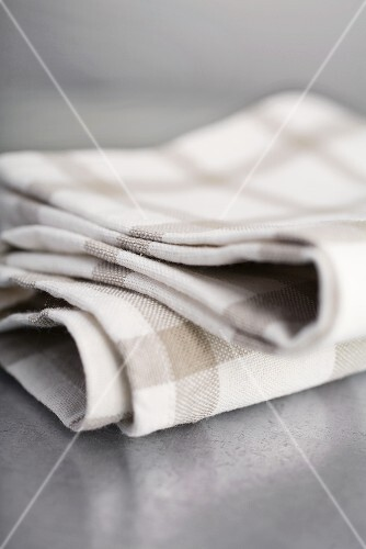 Checked tea towels