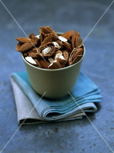 Almonds in a pot