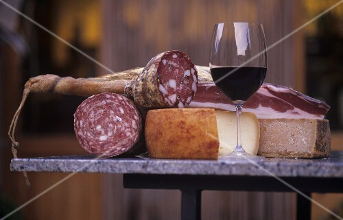 Brunello di Montalcino with pecorino & sausage specialities