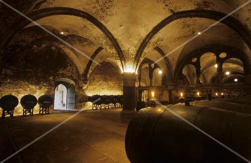Kloster Eberbach wine cellar, Rheingau, Germany