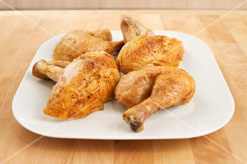 Roast chicken, carved