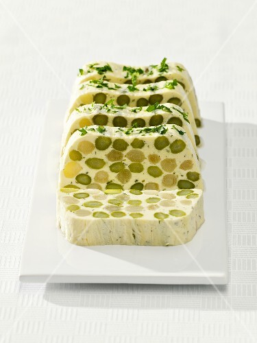 Asparagus terrine with herbs