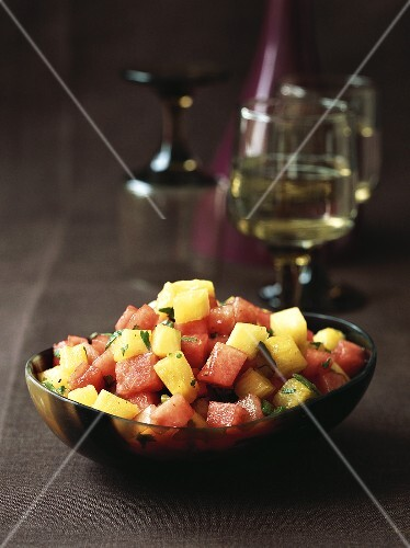 Melon and pineapple salad