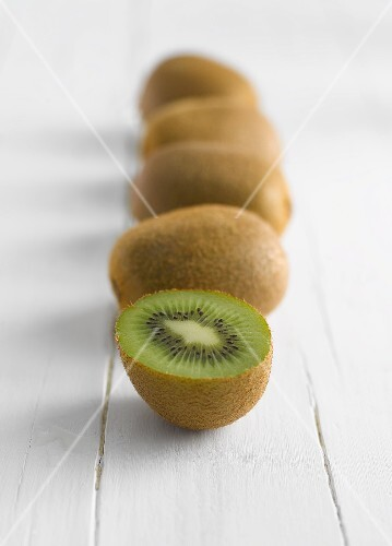 A row of kiwis