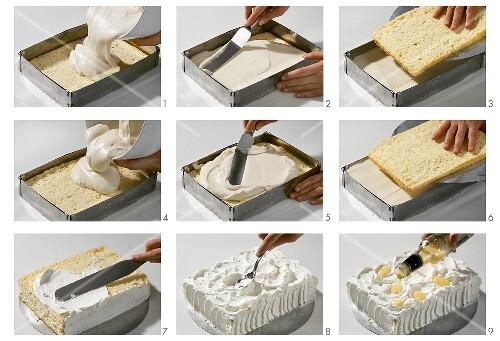 Cappuccino-Eierlikör-Torte zubereiten – StockFood