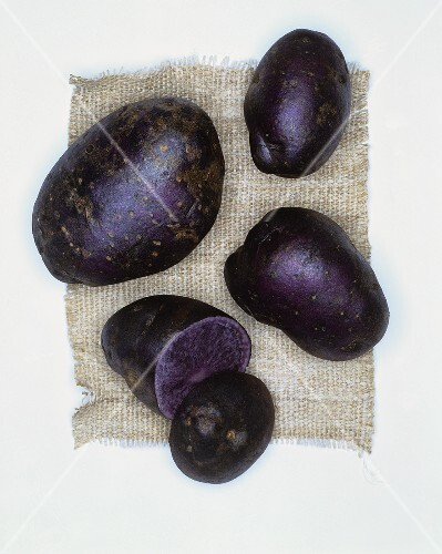 Potatoes, variety: Blue Salad Potato