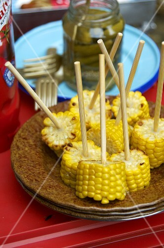 Corncobs on sticks