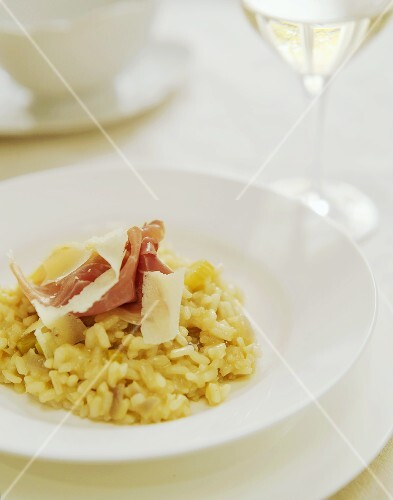 Risotto with ham and Parmesan