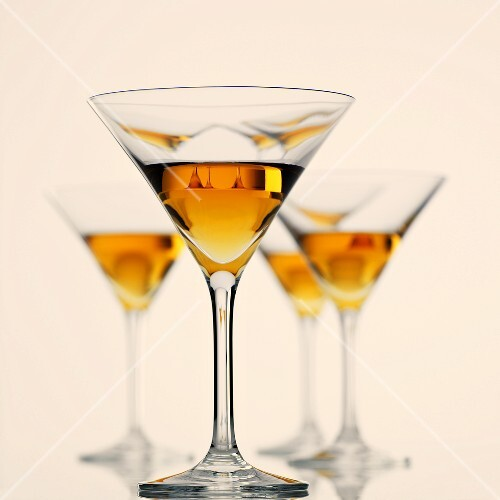 Several glasses of Martini