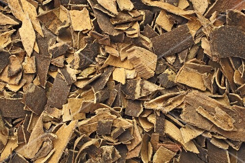 Dried ash bark