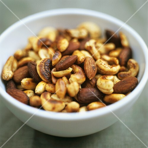 Small bowl of roasted nuts