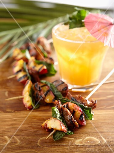 Lamb and nectarine kebabs
