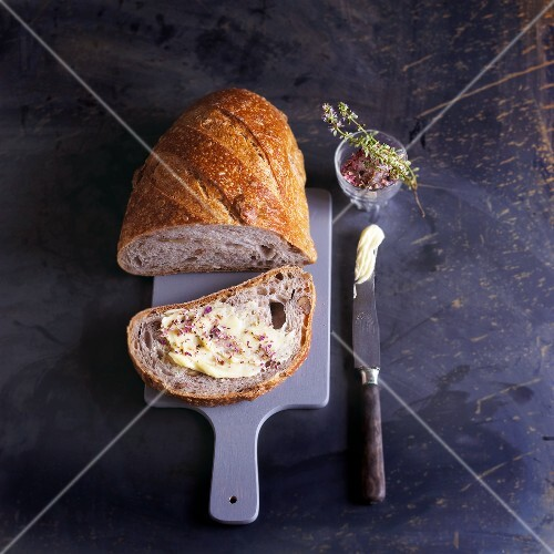Walnut bread with butter