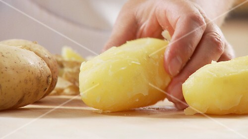 Cooked, peeled potatoes