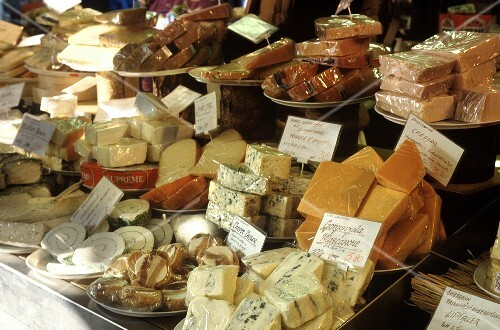Various types of cheese at the market (5)