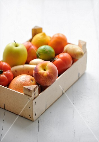 Crate of fruit and vegetable