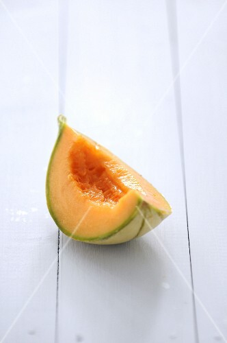 Quarter of melon without pips
