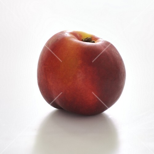 Nectarine on a white background