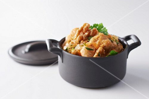 Indochinese chicken and walnuts