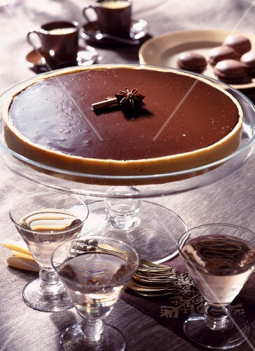 Spicy chocolate tart