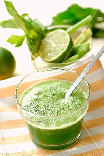 Celery and lime juice