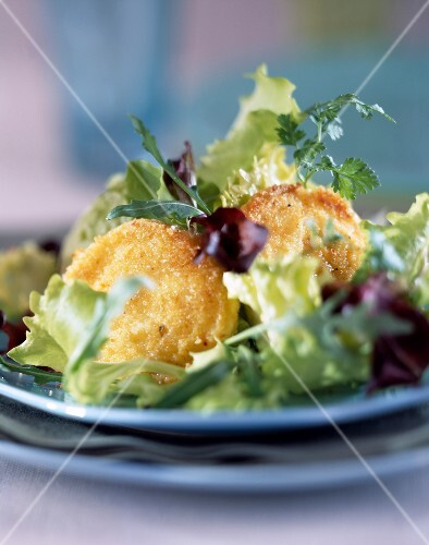 Breaded goat's cheese