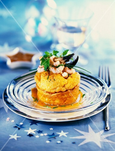 A festive soufflé with seafood and espelette chilli