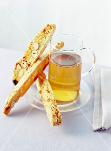 Tea with almond biscuits