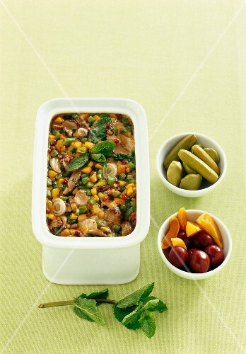 Lamb terrine with mint and fine vegetables