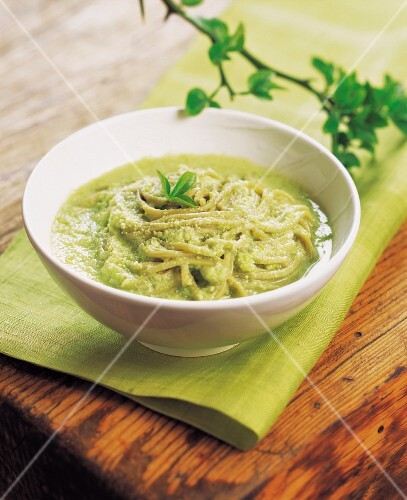Noodles in Chilled White Bean Soup