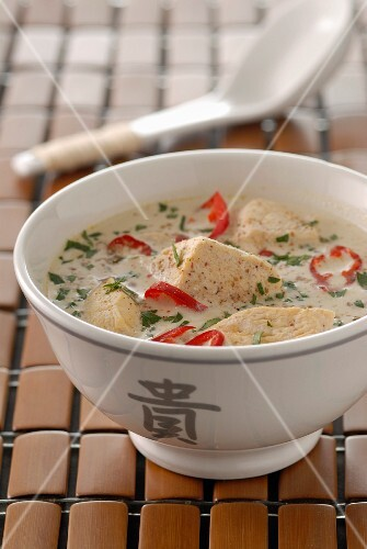 Chicken and coconut milk Thai soup