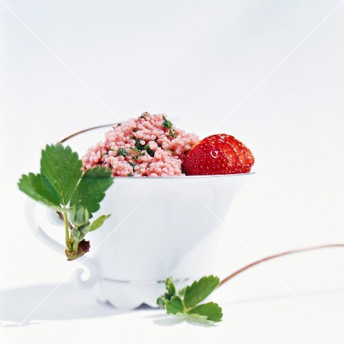 Tabbouleh with strawberries