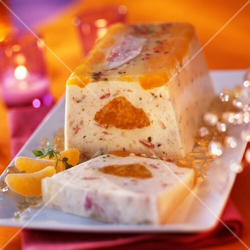 Seafood and citrus fruit terrine